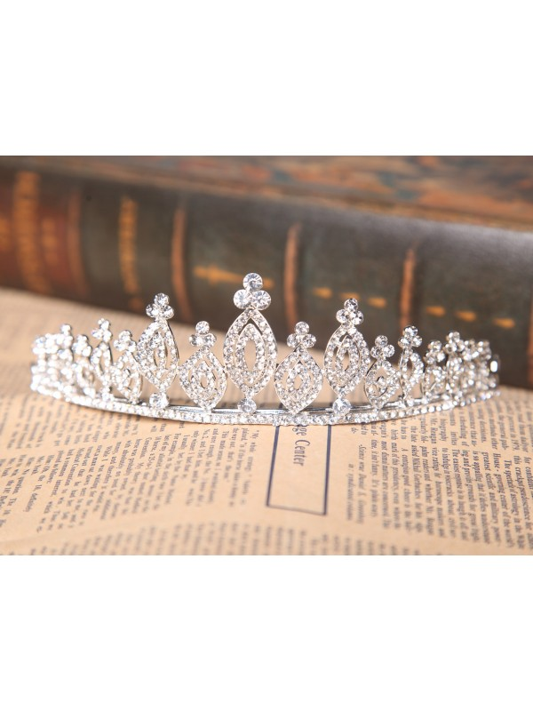 Gorgeous Alloy Clear Crystals Wedding Headpieces