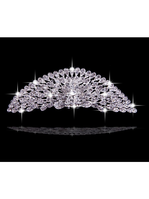 Very Amazing Alloy With Czech Rhinestones Flowers Wedding Headpieces