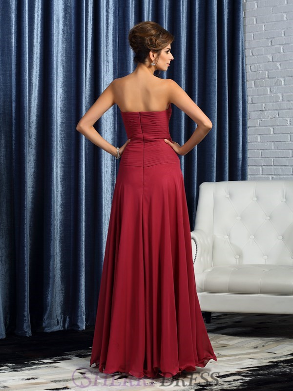 1912618f5bf ... A-Line/Princess Sweetheart Chiffon Sleeveless Floor-Length Burgundy  Mother of the Bride